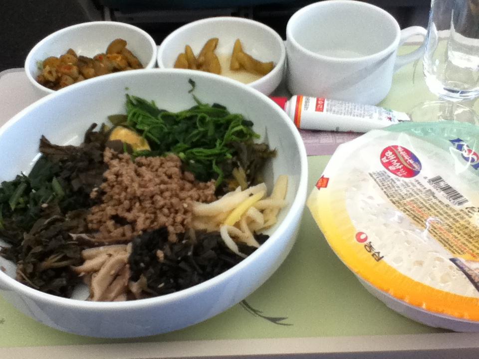 大韓航空 機内食 ビビンバ